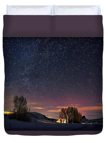 Country Night Life Duvet Cover