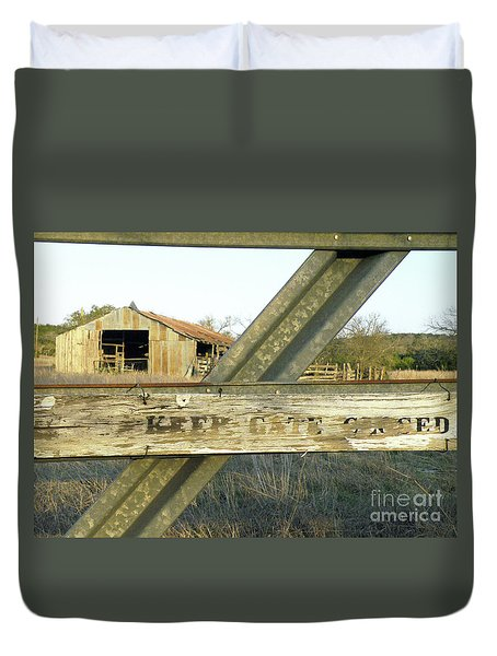 Duvet Cover featuring the photograph Country Quiet by Joe Jake Pratt