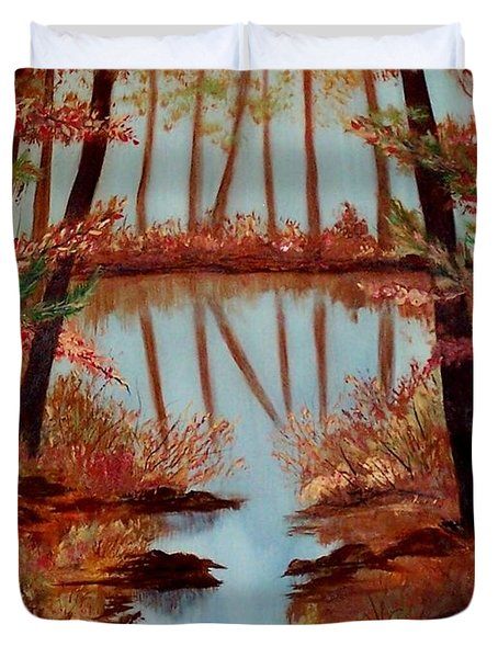Country Reflections Duvet Cover by Leslie Allen