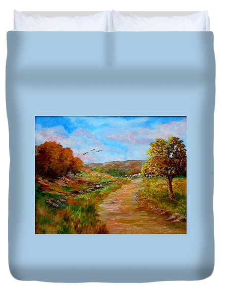 Country Road 2 Duvet Cover