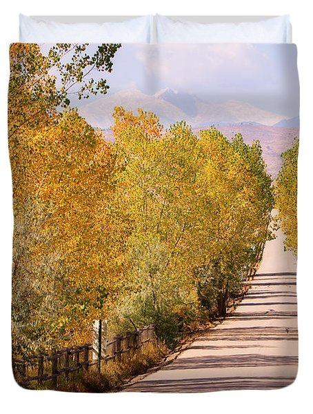 ... Fall Foliage View Of The Twin Peaks Duvet Cover by James BO Insogna