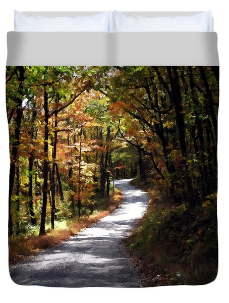 Country Road Duvet Cover by David Dehner