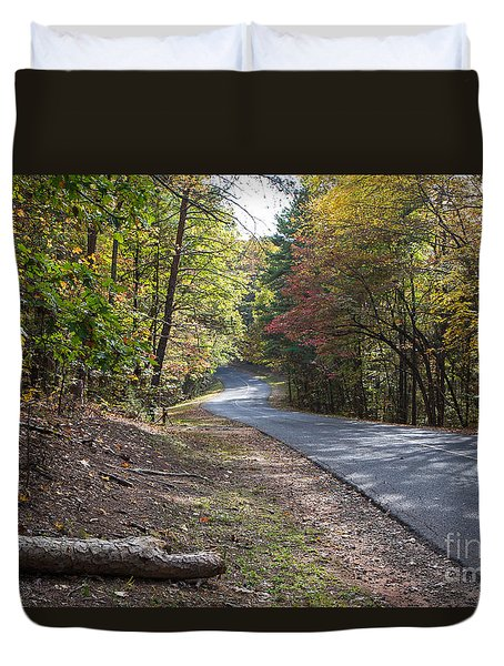 Country Road In Autumn Duvet Cover by Kevin McCarthy