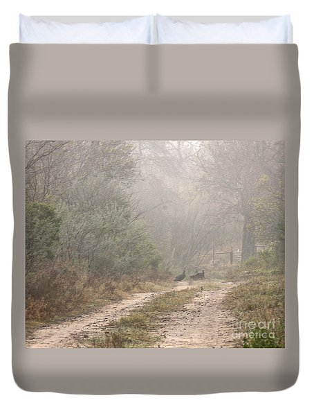 Country Road In The Morning Duvet Cover