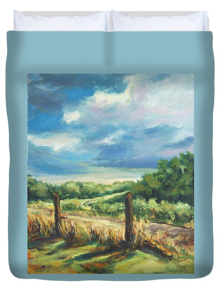 Country Road Duvet Cover by Rick Nederlof