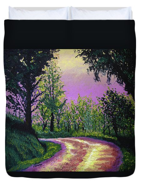 Country Road Duvet Cover by Stan Hamilton