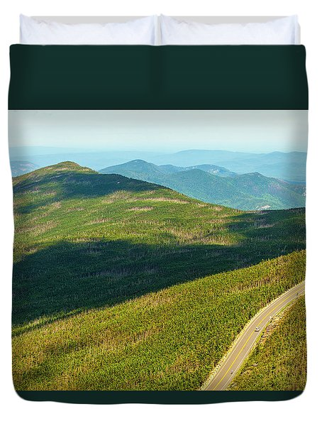 Duvet Cover featuring the photograph Country Road To My Home Whiteface Mountain New York by Paul Ge