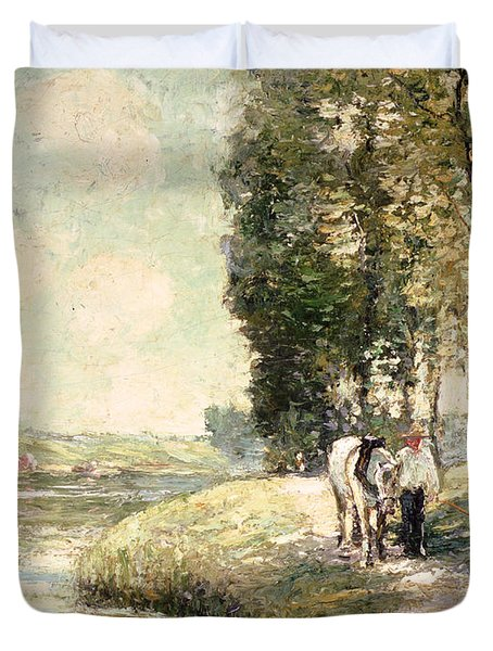 Country Road To Spuyten Duvet Cover by Ernest Lawson