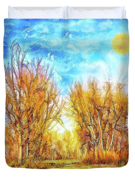 Country Road Wandering Duvet Cover by Joel Bruce Wallach
