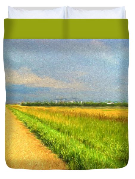 Country Roads  Duvet Cover by Cathy Anderson