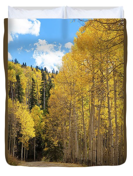 Duvet Cover featuring the photograph Country Roads by David Chandler