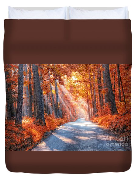 Country Roads Duvet Cover by Geraldine DeBoer