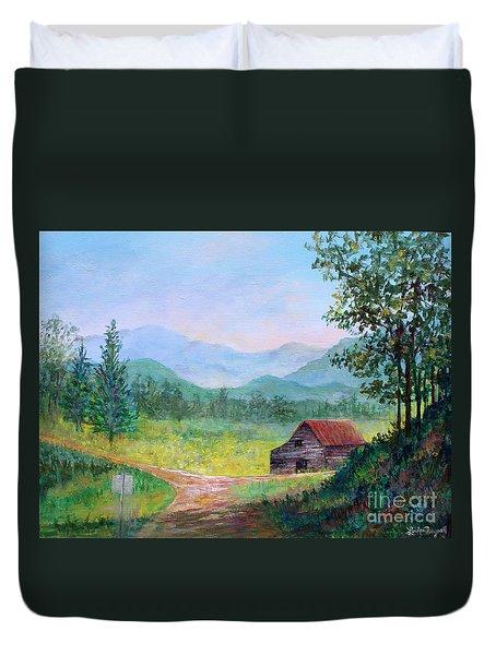 Country Roads Duvet Cover by Lou Ann Bagnall