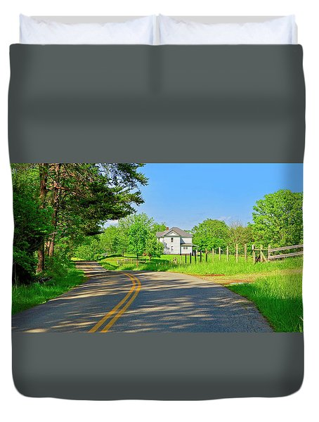 Country Roads Of America, Smith Mountain Lake, Va. Duvet Cover