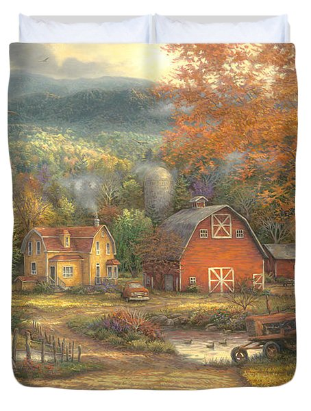 Country Roads Take Me Home Duvet Cover