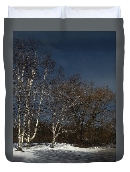 Country Roadside Birch Duvet Cover