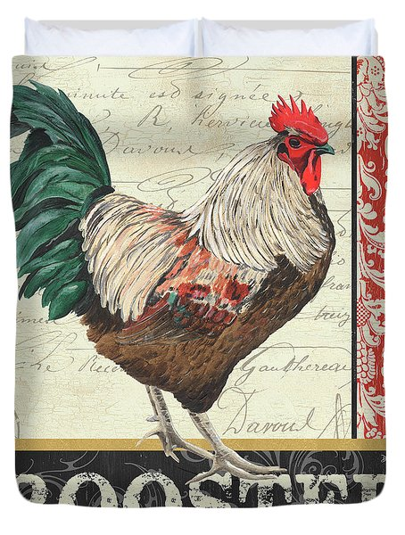 Country Rooster 1 Duvet Cover by Debbie DeWitt