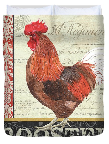 Country Rooster 2 Duvet Cover by Debbie DeWitt