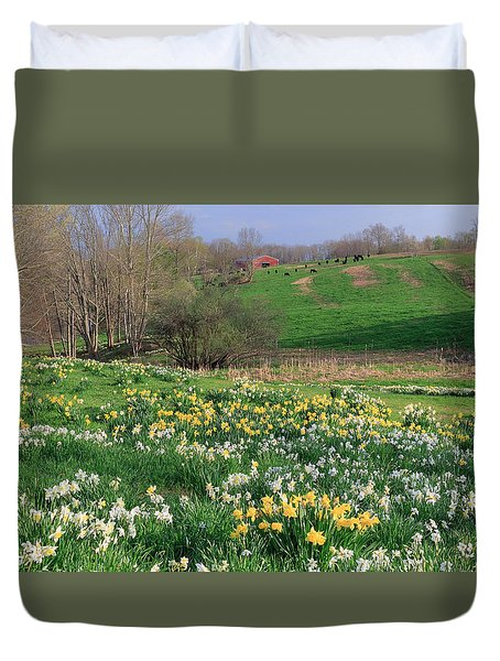 Country Spring Duvet Cover by Bill Wakeley