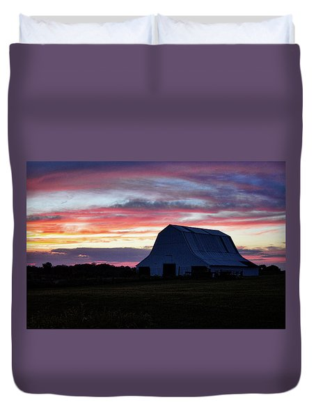 Duvet Cover featuring the photograph Country Sunset by Cricket Hackmann