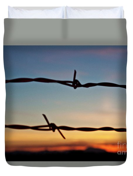 Country Sunset Duvet Cover by Janie Johnson