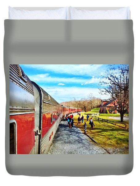 Country Train Depot Duvet Cover