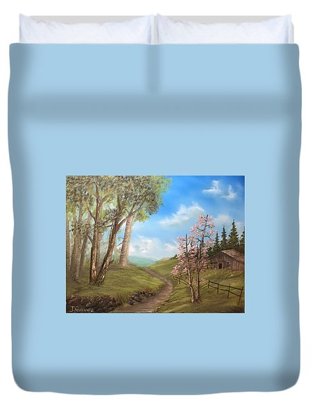 Country Valley  Duvet Cover