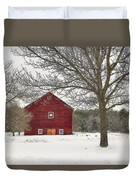 Duvet Cover featuring the digital art Country Vermont by Sharon Batdorf
