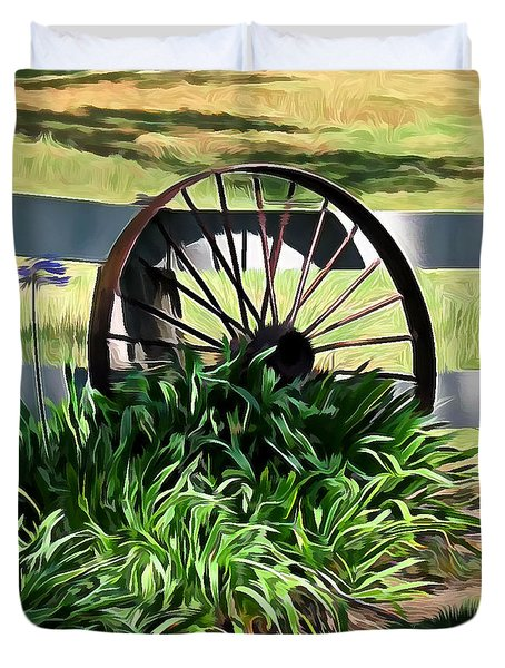 Country Wagon Wheel Duvet Cover