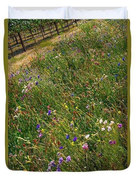 Country Wildflowers I   Duvet Cover