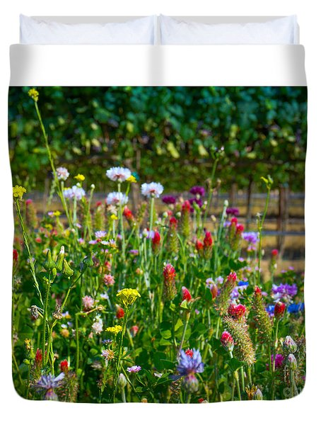 Country Wildflowers II Duvet Cover