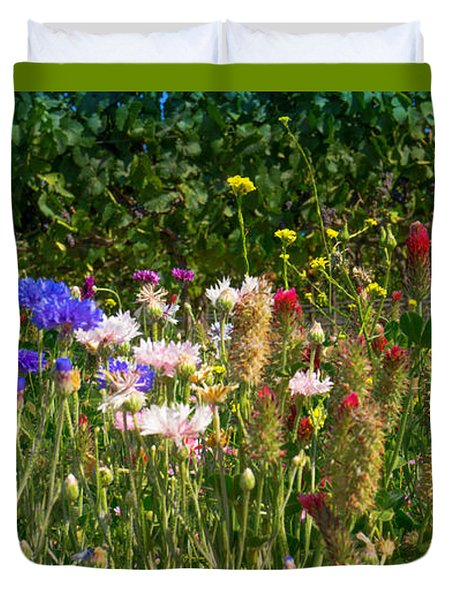 Country Wildflowers Iv Duvet Cover