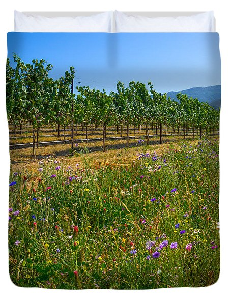 Country Wildflowers V Duvet Cover