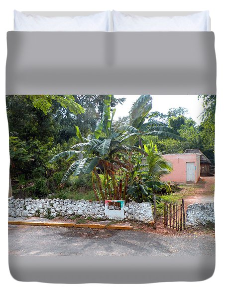 Countryside Along The Yucatan Peninsula Duvet Cover by Dianne Levy