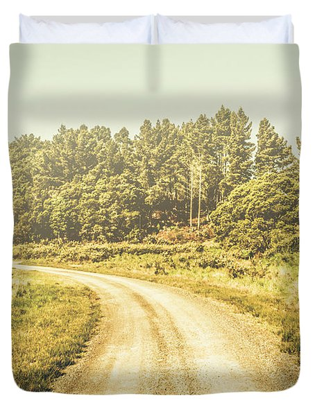 Countryside Road In Outback Australia Duvet Cover