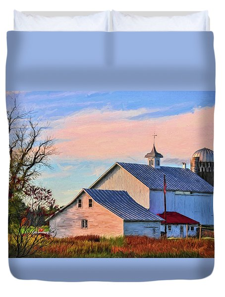 Duvet Cover featuring the photograph County J Classic by Trey Foerster