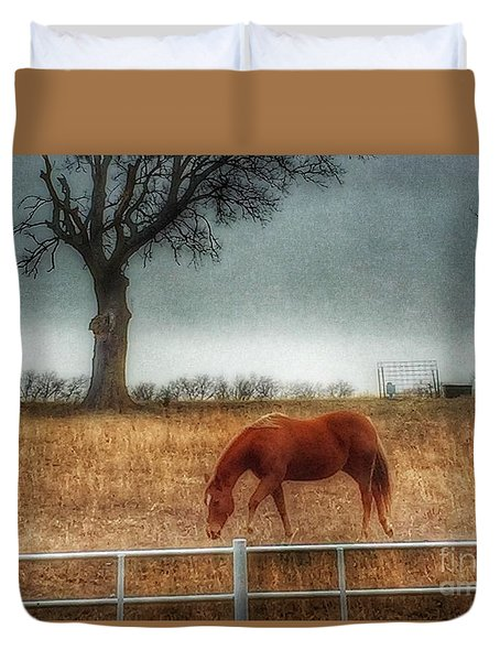 County Road 4100 Duvet Cover