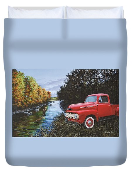 Couple Of Old Timers Duvet Cover