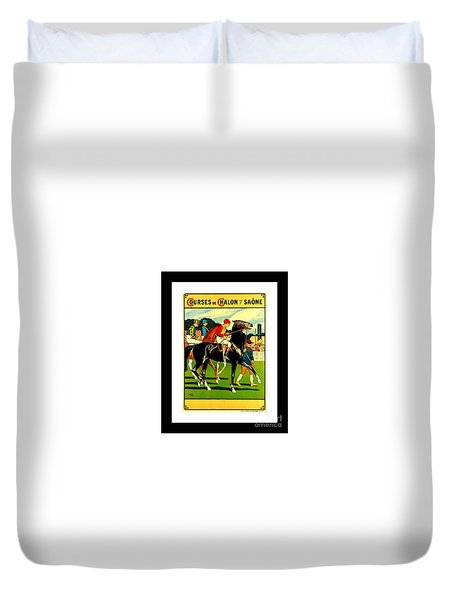 Courses De Chalon French Horse Racing 1911 II Leon Gambey Duvet Cover