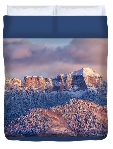 Court House Mountain Glow Duvet Cover