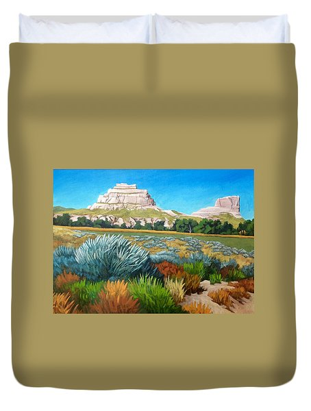 Courthouse And Jail Rocks 2 Duvet Cover