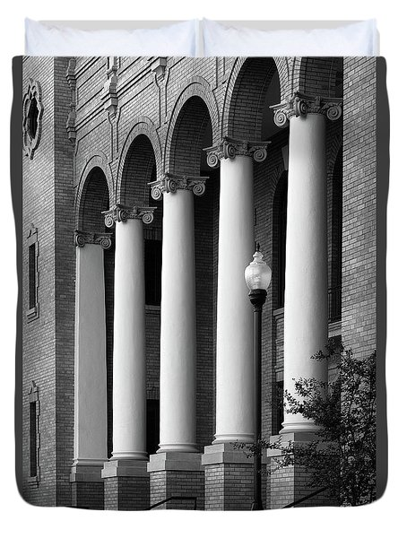Duvet Cover featuring the photograph Courthouse Columns by Richard Rizzo