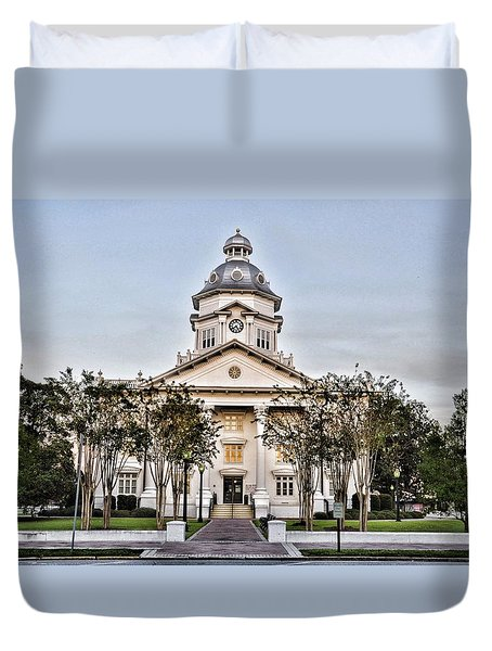 Courthouse In Moultrie Duvet Cover