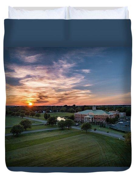Courthouse Sunset Duvet Cover