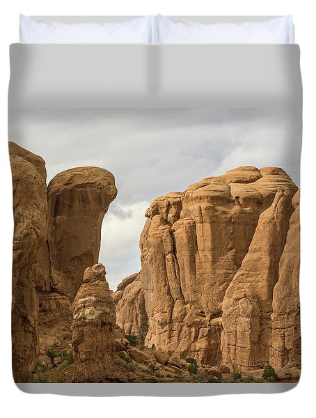 Courthouse Towers Duvet Cover