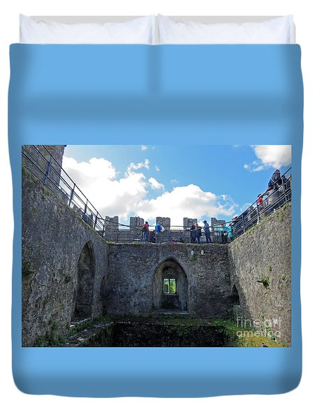 Courtyard Of Blarney Castle Duvet Cover
