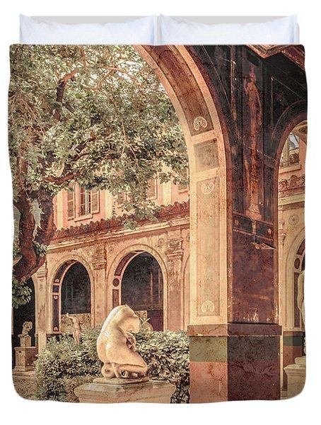 Paris, France - Courtyard West - L'ecole Des Beaux-arts Duvet Cover