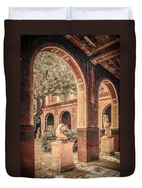 Paris, France - Courtyard West - L'ecole Des Beaux-arts Duvet Cover