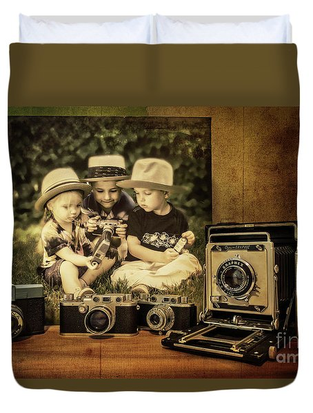 Cousins And Cameras Duvet Cover
