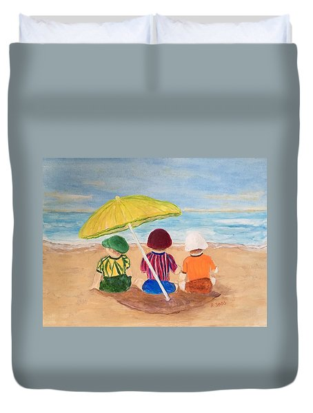 Cousins At The Beach Duvet Cover